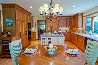 Transitional kitchen and dining concept design