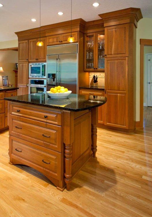 Craftsman-Transitional kitchen island