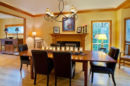 Craftsman-Transitional dining hall