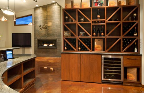 NW-Contemporary wine rack installlation