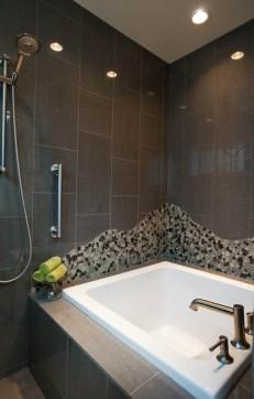 Asian-Contemporary bathtub remodel