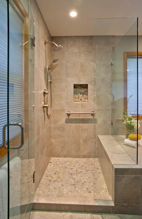Contemporary-Asian-Flair shower installtion in Portland