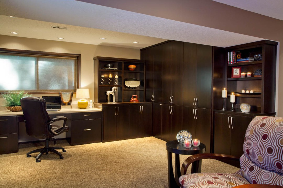 Transitional home office renovation