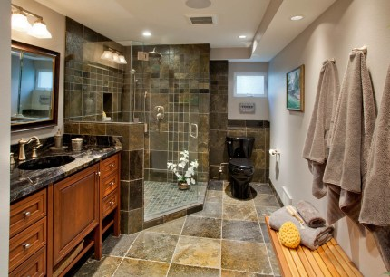 Enhanced-Italian-Traditional bathroom remodel