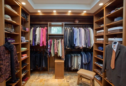 Traditional-Italian master walk-in closet remodel