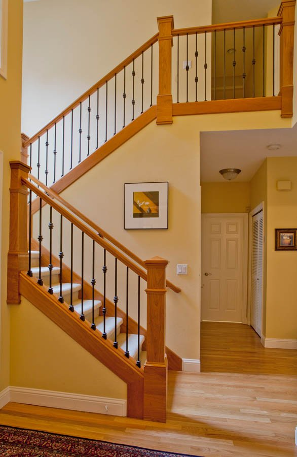 craftsman transitional staircase remodel