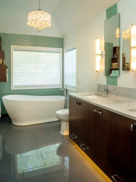 Modern-Transitional bathroom remodel