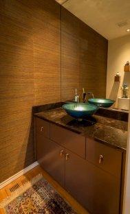 modern transitional bathroom remodel