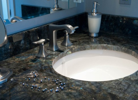 Transitional bathroom sink