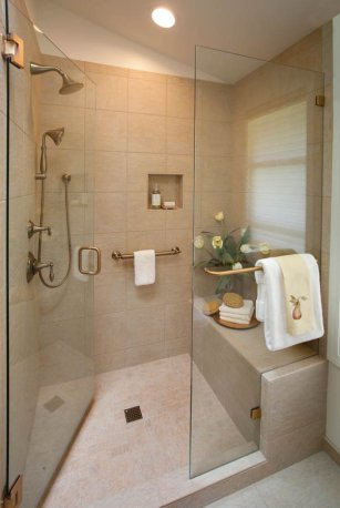 Classic-Italianate full shower remodel