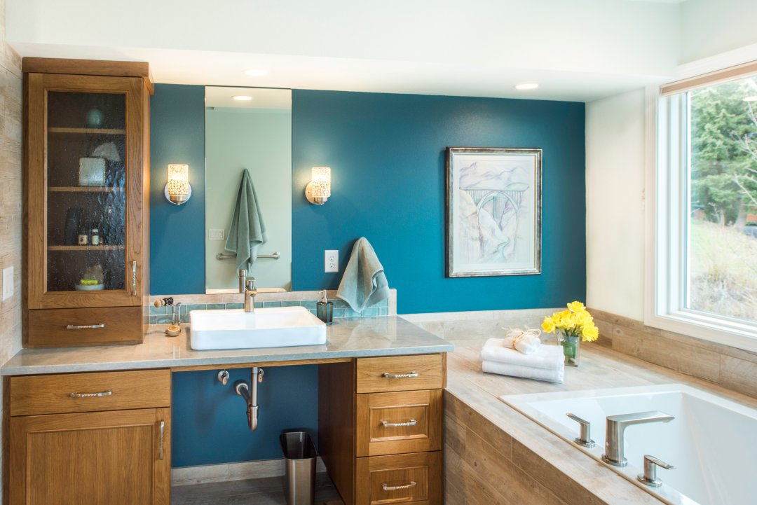 Contemporary Bathroom Remodel Portland OR