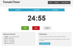 TomatoTimer. Простой веб-сервис для техники Pomodoro