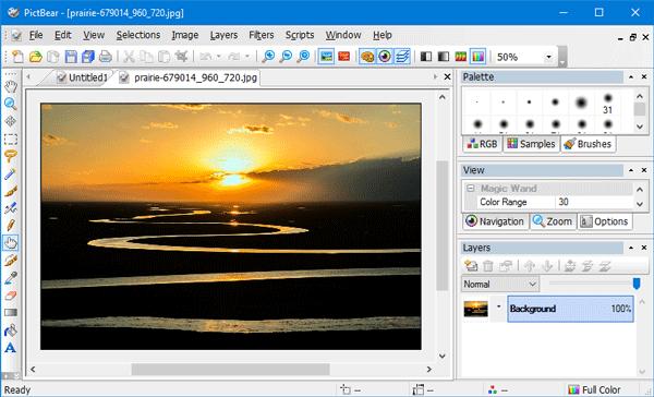 PictBear — бесплатный редактор изображений