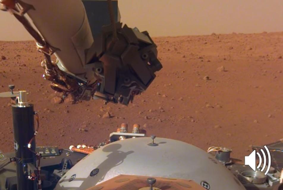 Запись шума марсианского ветра
