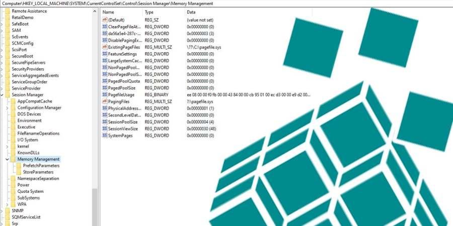 Как автоматически удалить pagefile.sys в Windows 10 при выключении компьютера