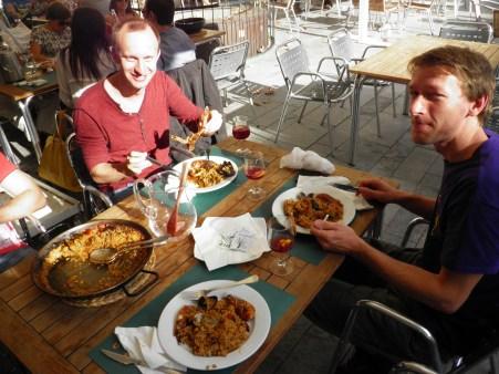 In Tarragona, eating paella is a must!