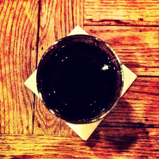 Geometry of wine and napkin.