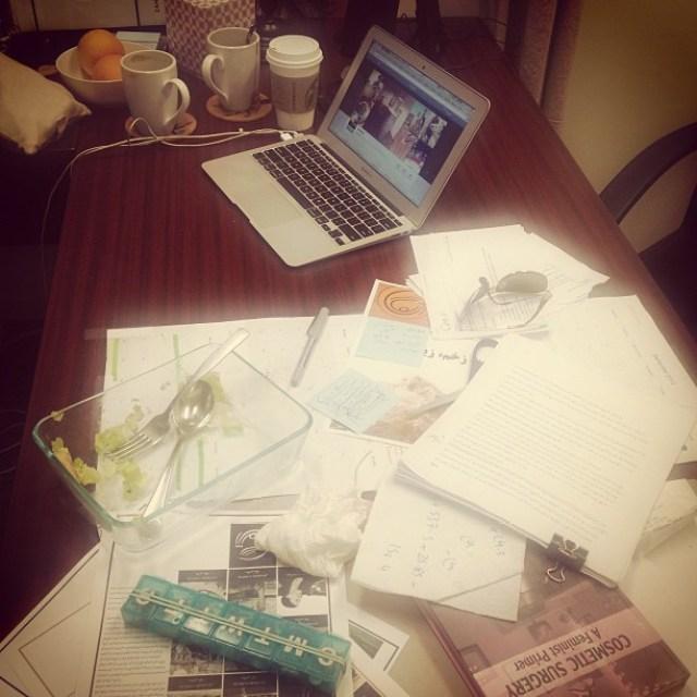 How crazy is ur desk today?