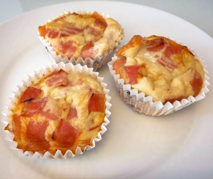 Super lækre æggemuffins med mozzarellaost og skinke - Low-Carb LCHF