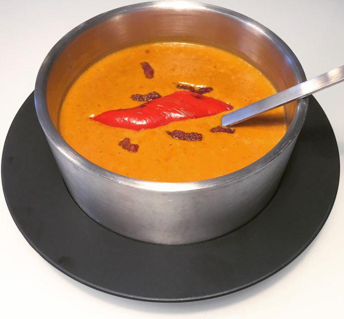 Cremet paprikaflødesovs med sprød bacon - Smagfuld Low-Carb / LCHF