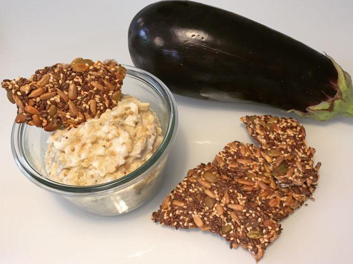 Nem og lækker aubergine-dip til fx knækbrød, salat og steaks » Low-Carb