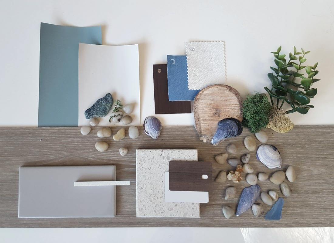 Chiropractic Office, Moodboard, beach theme, concept, client, office space