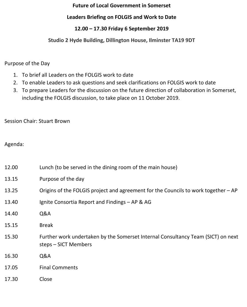 Microsoft Word - FOLGIS Leaders meeting agenda 6 September 2019