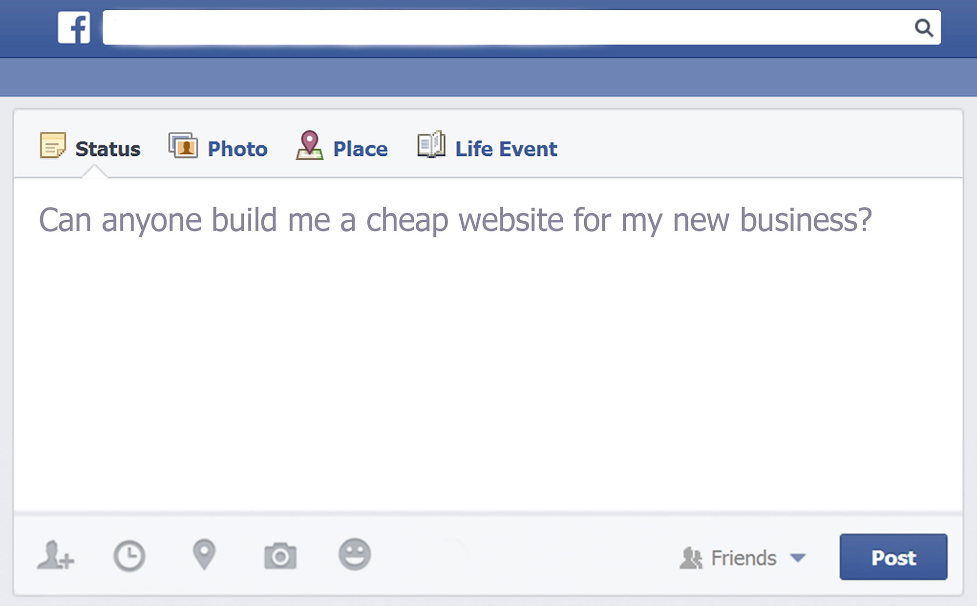 Why hiring a Facebook friend to build your website can be REALLY bad for business