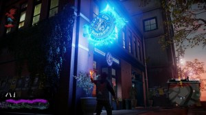 Draining power from objects in the game looks cool and determines Delsin's current power.