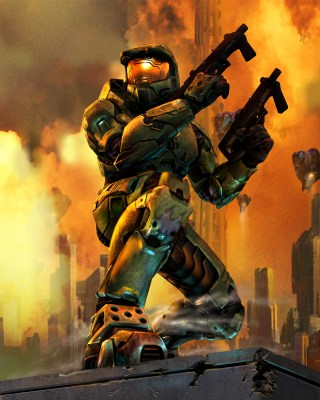 Halo 2's iconic cover art