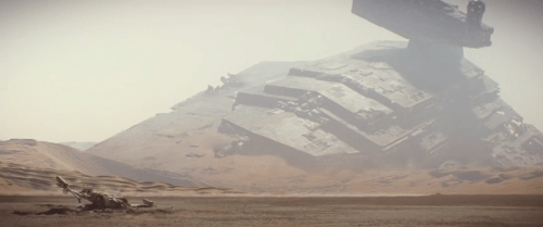 X-Wing and Star Destroyer Wreckage