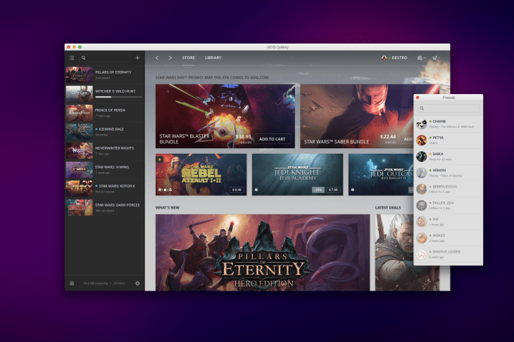 GoG's platform is a great way to play old PC games easily, but you'll have to rebuy if you had an older release