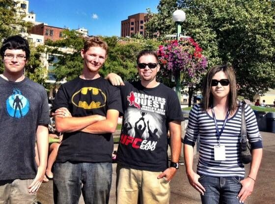 The LevelSave Team at PAX Prime 2012 (L-R Austin Griffith, Chris Lock, Barry Villatoro, Taryn Beach)