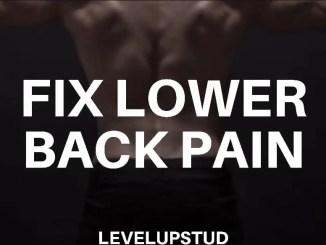 fix lower back pain