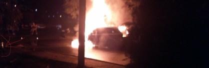 сгорели три автомобиля