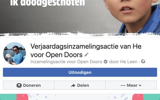 Doneeractie 'Open Doors'
