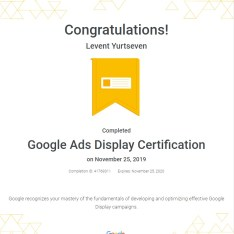 Display sertifikası