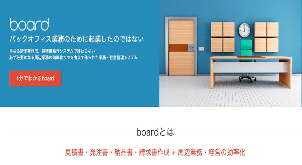 周辺業務の効率化を考えて作られた業務・経営管理システム board