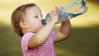 baby drinking water