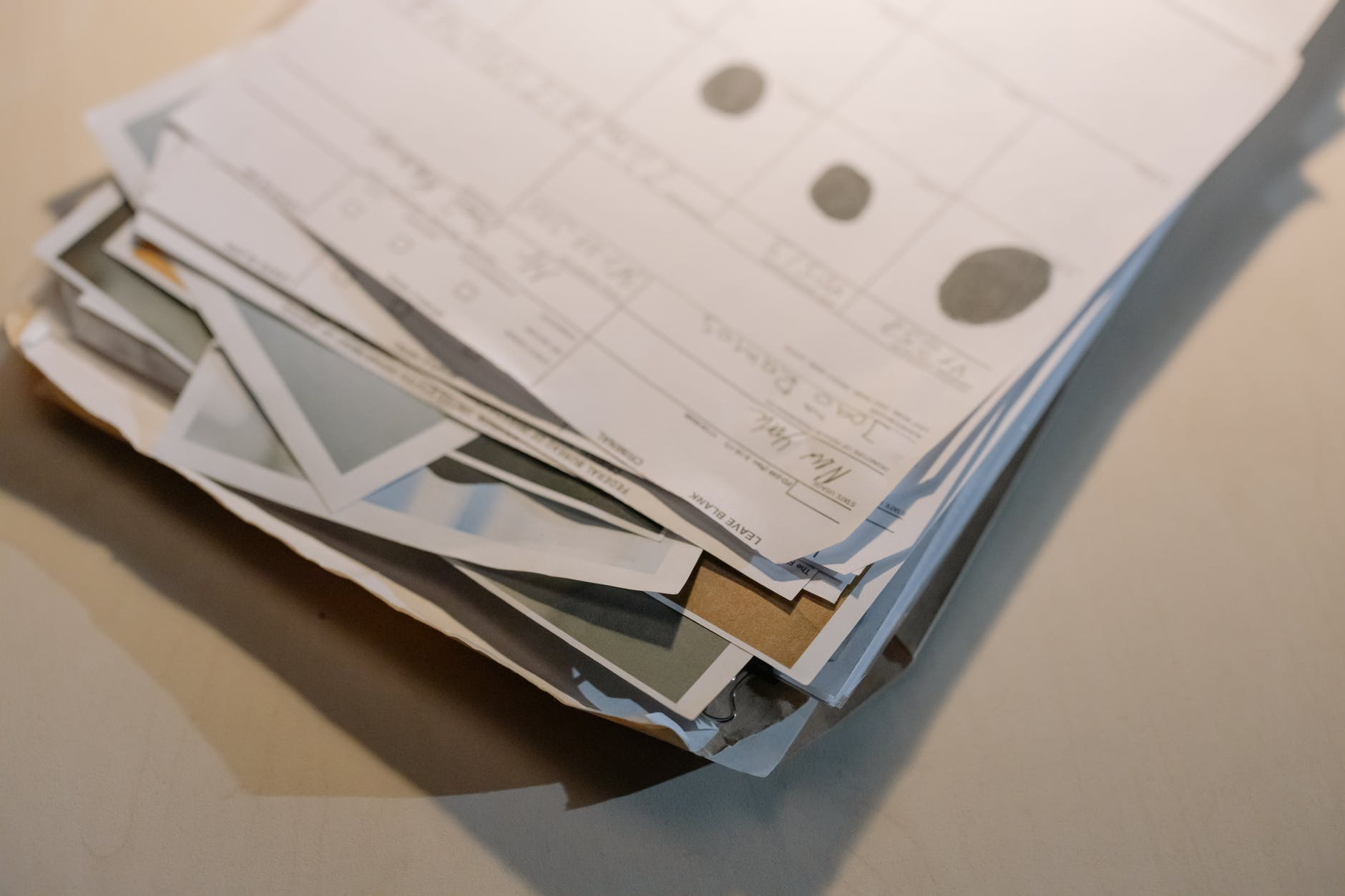 close up photo of file of papers
