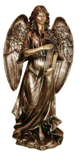 Bronze Angel with Cross 399026