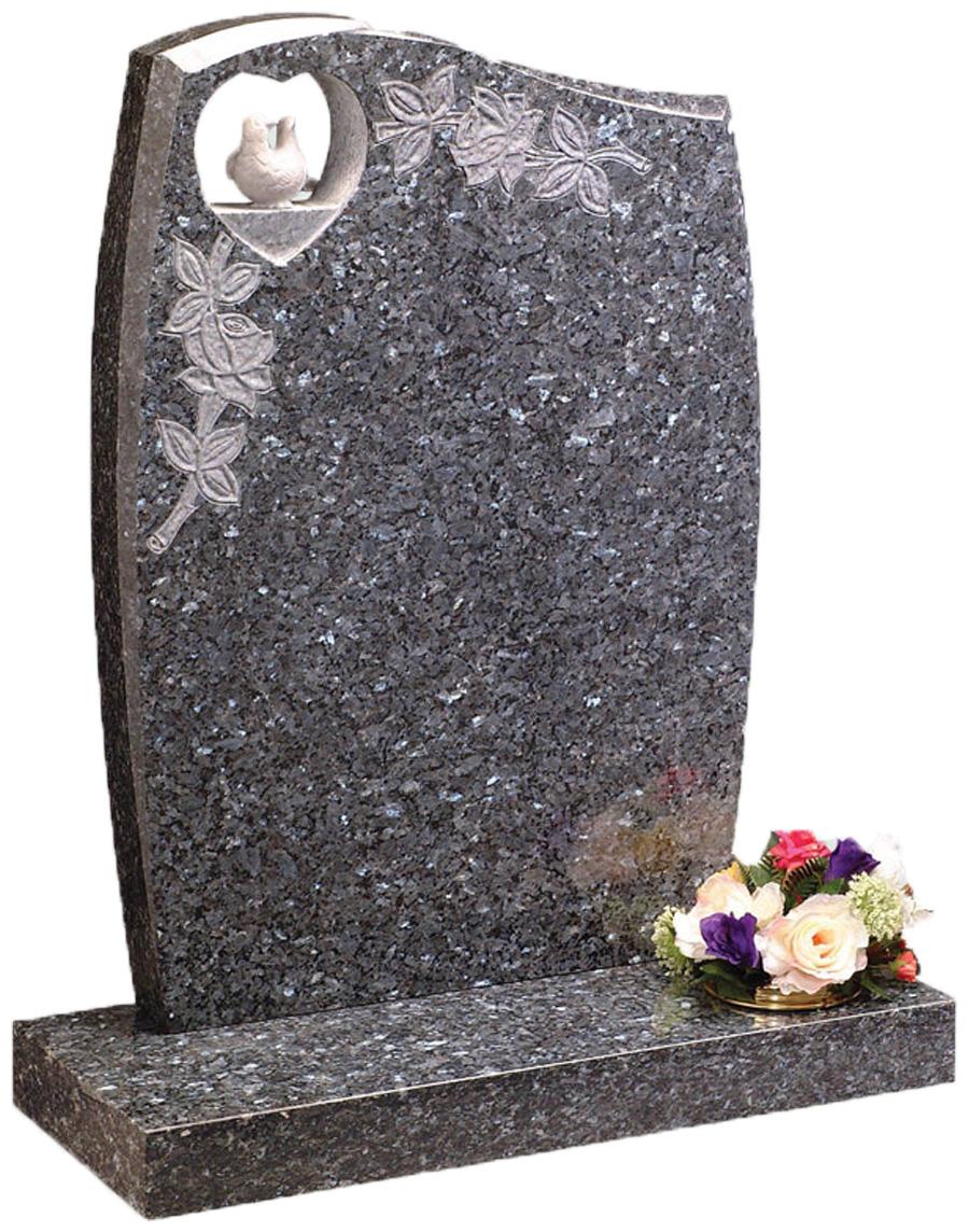 Blue Pearl Anton Headstone