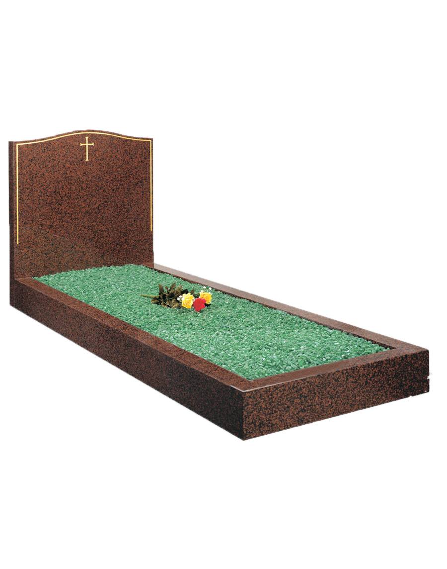 Red Granite Kerbed Set