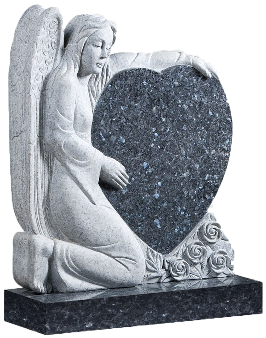 Blue Pearl Granite Angle Heart