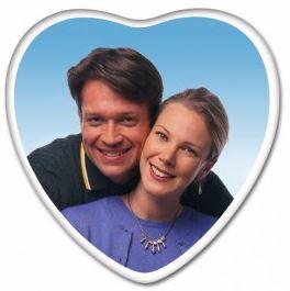 Heart photo plaque