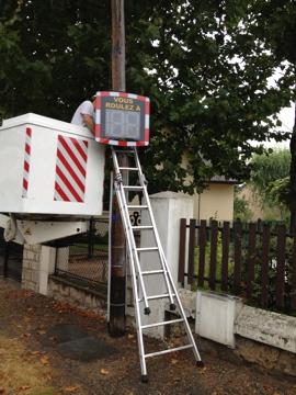 Radar pédagogique au Vésinet