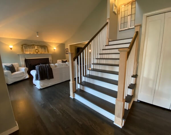 Hardwood Stairs Wood Stair Treads Stair Refinishing Seattle | Cost To Restain Stair Railing | Spindles | Refinishing Hardwood Stairs | Baluster | Sanding | Paint