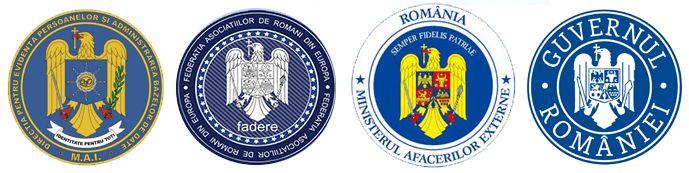 Sigle Ministerul Afacerilor Interne - FADERE - Ministerul Afacerilor Externe - Guvernul României