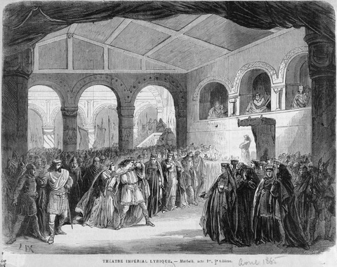 Macbeth Verdi Scene at the Lyric Theatre, Paris, 1865