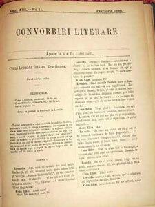 conu leonida convorbiri literare